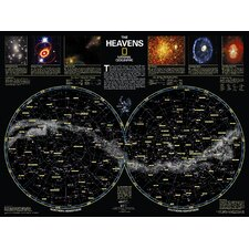 <strong>National Geographic Maps</strong> The Heavens Poster Map