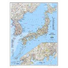 Japan & Korea Wall Map