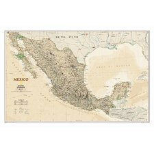 Mexico Executive Wall Map
