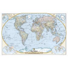 NGS 125th Anniversary World Map