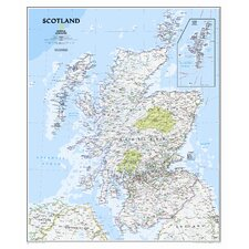 Scotland Classic Wall Map