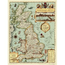 <strong>National Geographic Maps</strong> Shakespeare's Britain Wall Map