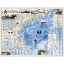 Shipwrecks of the Northeast Wall Map