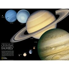 The Solar System  Poster Map (Two Sided)