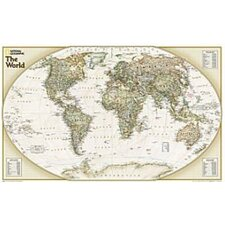 World Explorer Executive Wall Map