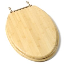 Deluxe Bamboo Wood Elongated Toilet Seat