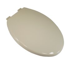 Deluxe Plastic Euro Design Elongated Toilet Seat