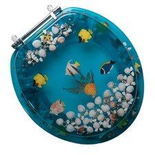 Aquarium Acrylic Round Toilet Seat