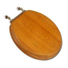 Decorative Front Wood Round Toilet Seat