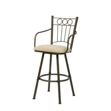 Charles II Swivel Bar Stool with Cushion