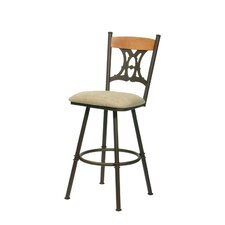 Penelope Swivel Bar Stool with Cushion