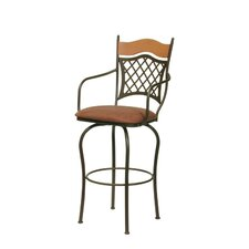 Raphael II Swivel Bar Stool with Cushion