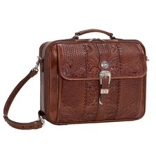 <strong>American West</strong> Retro Romance Travel Leather Laptop Briefcase