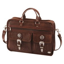 Oak Leaf 6 Compartment Organized Briefcase