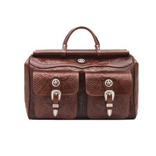 "<strong>American West</strong> Oakleaf 18"" Leather Travel Duffel with Front Pouches"