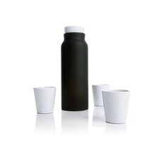 Carafe and Tumblers in Anthracite