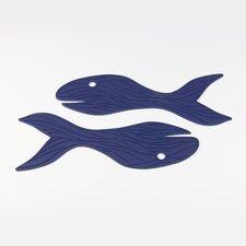 Blub 2 Silicone Whales Trivet