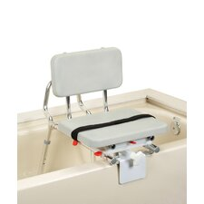 Tub Mount Transfer Bench with Padded Swivel Seat and Back
