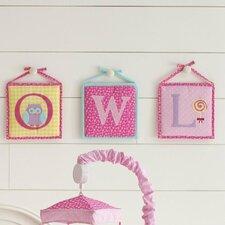 Owlphabet Hanging Initials (Set of 3)