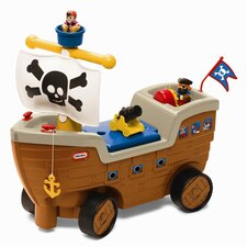 Play 'N Scoot Pirate Ship Push Ride-On