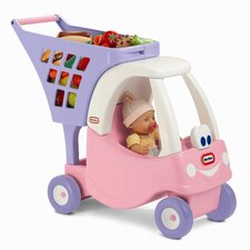 Cozy Coupe Princess Shopping Cart Push Ride-On