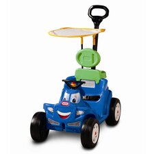 Deluxe 2-in-1 Cozy Roadster Push/Scoot Ride-On