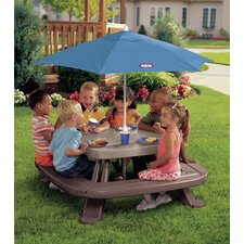 Endless Adventures Fold 'n Store Picnic Table with Market Umbrella