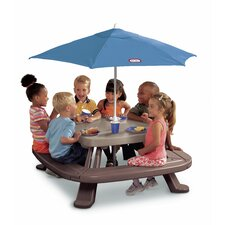 <strong>Little Tikes</strong> Endless Adventures Fold 'n Store Picnic Table with Market Umbrella