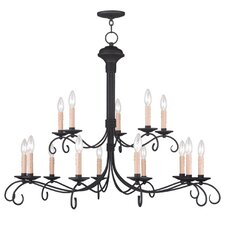 Heritage 16 Light Candle Chandelier