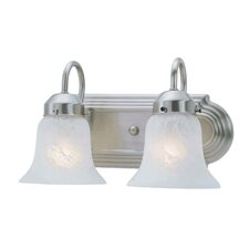 Home Basics 2 Light Vanity Light