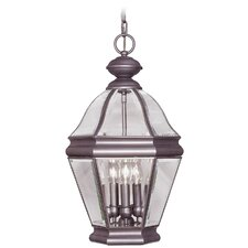 <strong>Livex Lighting</strong> Bradford 4 Light Outdoor Hanging Lantern