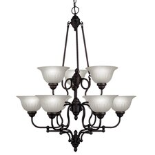 <strong>Livex Lighting</strong> Countryside 9 Light Chandelier