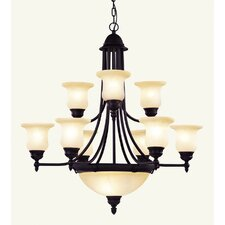 <strong>Livex Lighting</strong> Belle Meade 9 Light Chandelier
