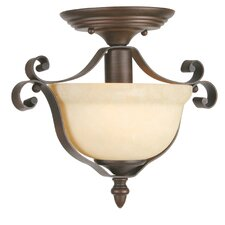 Manchester 1 Light Semi Flush Mount