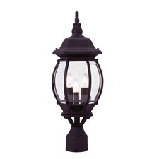 "Frontenac 3 Light 8"" Outdoor Post Lantern"