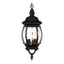 Frontenac  Outdoor Hanging Lantern in Black