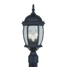 <strong>Livex Lighting</strong> Kingston 3 Light Outdoor Post Lantern