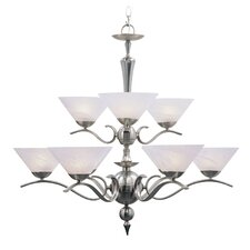 <strong>Livex Lighting</strong> Nouveau 9 Light Chandelier