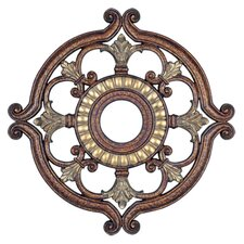 Ceiling Medallion in Palacial Bronze with Gilded Accents