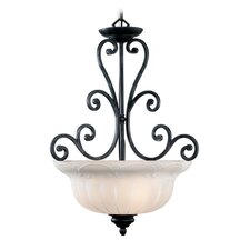 Royal 3 Light Inverted Pendant