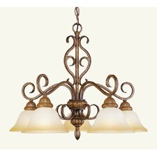 <strong>Livex Lighting</strong> Bristo 5 Light Chandelier