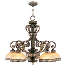 <strong>Livex Lighting</strong> Seville 5 Light Chandelier
