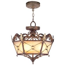 Bristol Manor  Convertible Pendant in Palacial Bronze with Gilded Accents