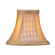 <strong>Livex Lighting</strong> Panel Bell Clip Silk Chandelier Shade in Gold