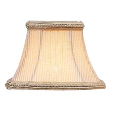 <strong>Livex Lighting</strong> Pinstripe Square Clip Chandelier Shade with Fancy Trim in Cream