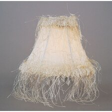 Silk Chandelier Shade with Corn Silk Fringe in Ivory