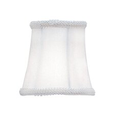 Bell Clip Shade with Fancy Trim in Ivory