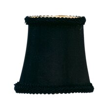 Bell Clip Chandelier Shade with Fancy Trim in Black