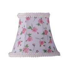 <strong>Livex Lighting</strong> Floral Print Bell Clip Chandelier Shade with Fancy Trim in White