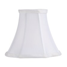 <strong>Livex Lighting</strong> French Oval Silk Clip Chandelier Shade in White